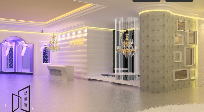 深圳led灯饰照明展厅设计图片