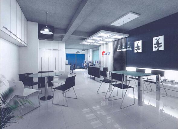 企业展厅效果图